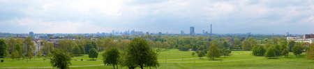 High dynamic range wide angle London panorama skyline seen from Primrose hill Stock Photo - 7376439