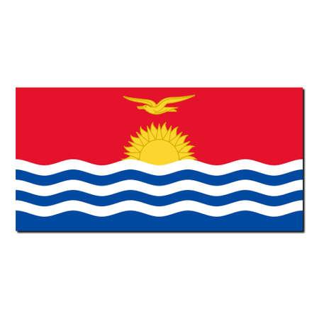 kiribati: The national flag of Kiribati - with shadow over white background Stock Photo