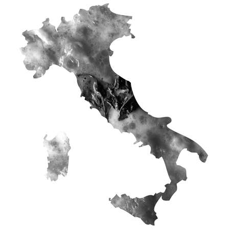 margherita: Typical italian food in Italy map illustration