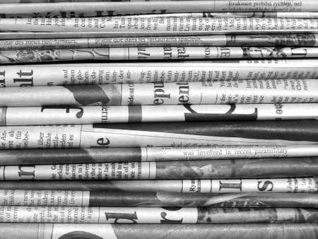 newspaper: Detail of a pile of international newspapers Stock Photo
