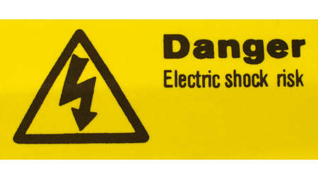 Sign of risk of electric shock by electrocution Stock Photo - 7462989