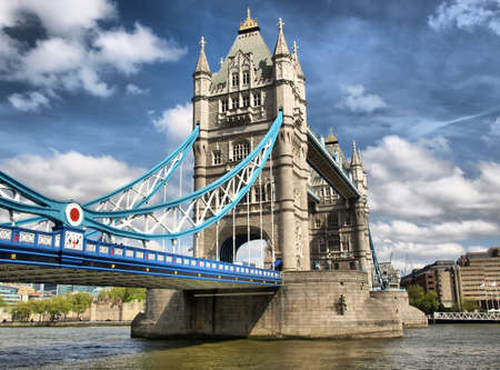 tower of london: Tower Bridge on River Thames, London, UK - HDR