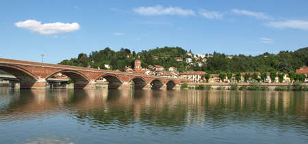 View of the town of San Mauro, near Turin Stock Photo - 7521107