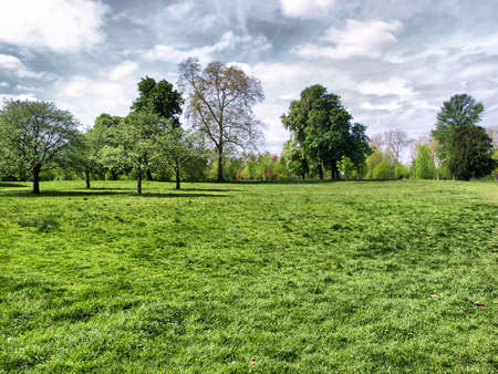 Hyde Park - Kensington Gardens in London, UK - high dynamic range HDR Stock Photo - 7548299