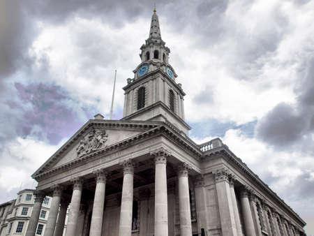 Church of Saint Martin in the Fields, Trafalgar Square, London, UK - high dynamic range HDR Stock Photo - 7547613