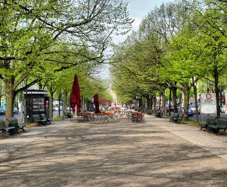 den: Unter den Linden boulevard in Berlin, Germany - high dynamic range HDR