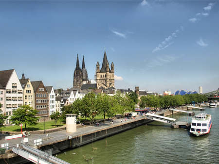 cologne: View of the city of Koeln (Cologne) in Germany - high dynamic range HDR