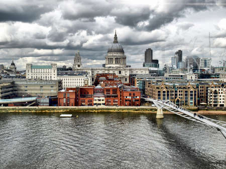 hdr: St Paul Cathedral in London, United Kingdom (UK) - high dynamic range HDR