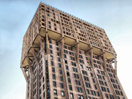Torre Velasca, Milan landmark Italian new brutalist architecture - high dynamic range HDR Stock Photo - 7558210