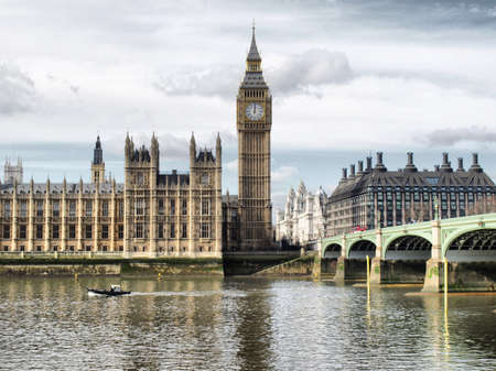 kingdoms: Houses of Parliament, Westminster Palace, London gothic architecture - high dynamic range HDR Stock Photo