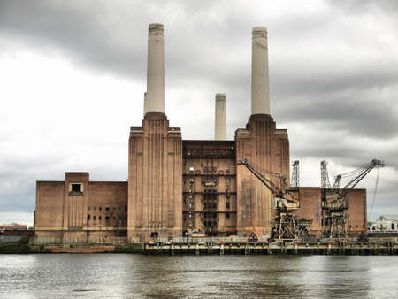 Battersea Power Station in London, England, UK - high dynamic range HDR photo