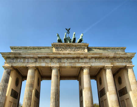 Brandenburger Tor (Brandenburg Gate), famous landmark in Berlin, Germany - high dynamic range HDR Stock Photo - 7558264