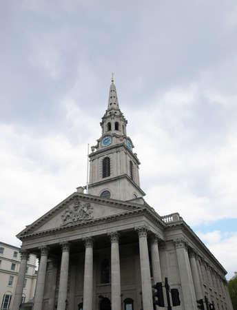 Church of Saint Martin in the Fields, Trafalgar Square, London, UK - high dynamic range HDR Stock Photo - 7558238