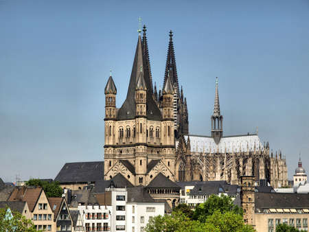 cologne: Koelner Dom, gothic cathedral church in Koeln (Cologne), Germany - high dynamic range HDR