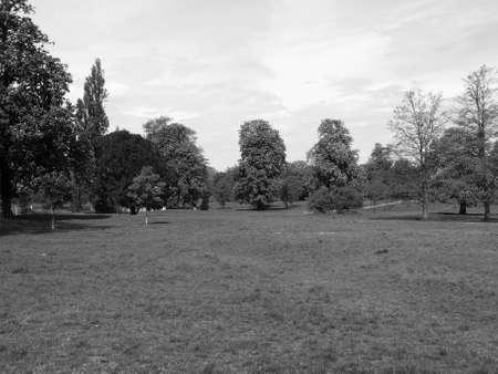 hyde: Hyde Park - Kensington Gardens in London, UK Stock Photo