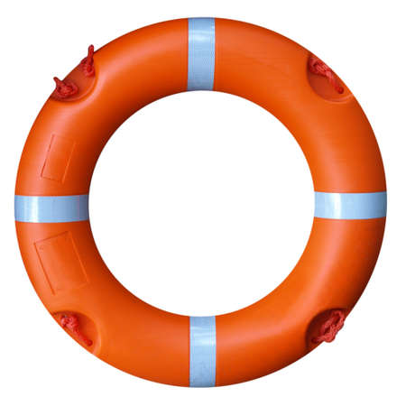 A life buoy for safety at sea - isolated over white background Stock Photo - 7628288