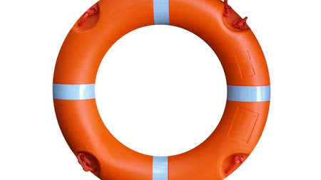 A life buoy for safety at sea - isolated over white background Stock Photo - 7628287