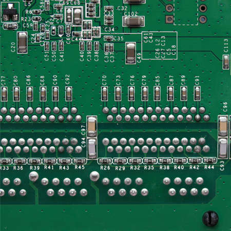 Detail of an electronic printed circuit board Stock Photo - 7628350