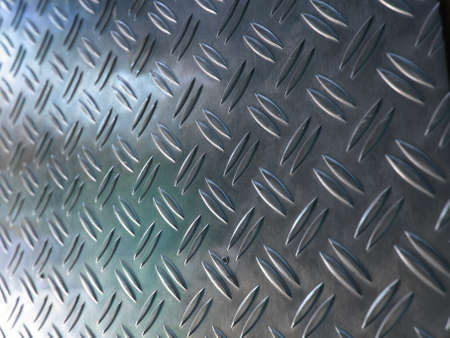 Diamond steel metal sheet useful as background photo