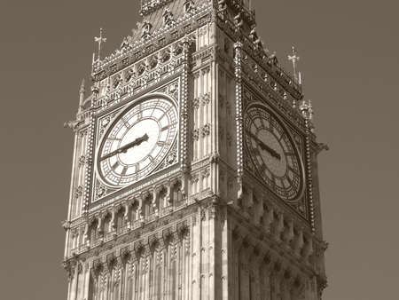 Big Ben, Houses of Parliament, Westminster Palace, London gothic architecture Stock Photo - 7628527