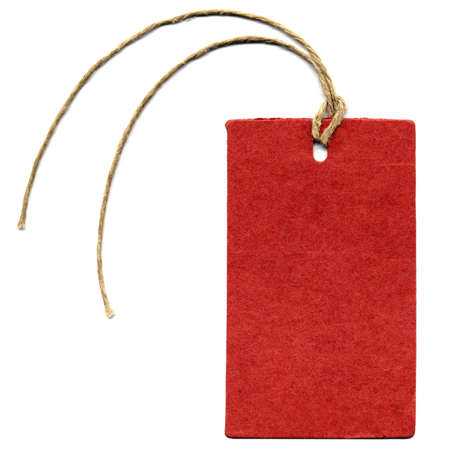 A paper tag or label or sticker
