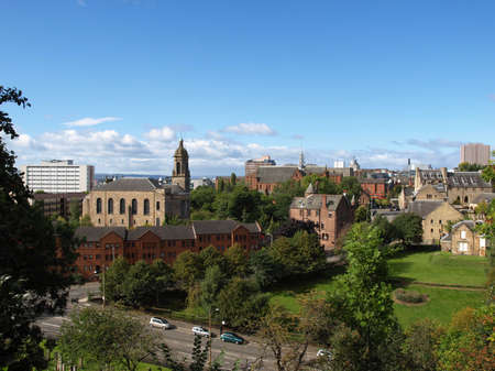 View of the city of Glasgow in Scotland