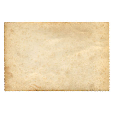 A blank postcard useful as a background - isolated over white background Standard-Bild