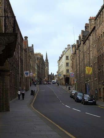 View of the city of Edinburgh in Scotland photo