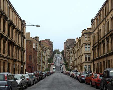 Gardner Street, the steepest road on Glasgow hills