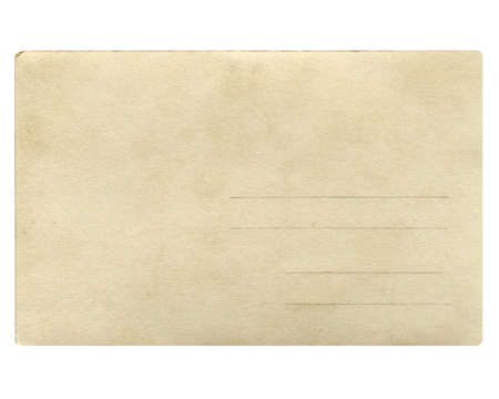 A blank postcard useful as a background - isolated over white background photo