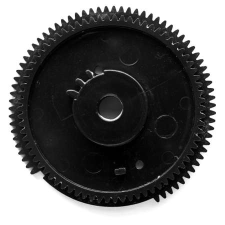 Detail of a gear used in industrial machines photo