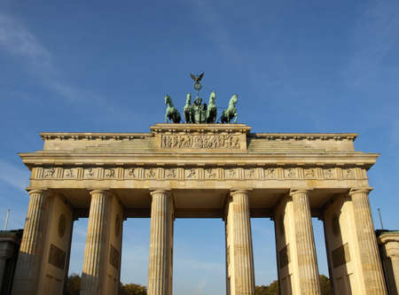 Brandenburger Tor (Brandenburg Gate), famous landmark in Berlin, Germany photo
