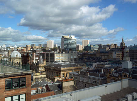 Aerial view of the city of Glasgow, Scotland photo