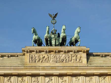 verjas: Brandenburger Tor (puerta de Brandenburgo), famoso monumento en Berl�n, Alemania  Foto de archivo