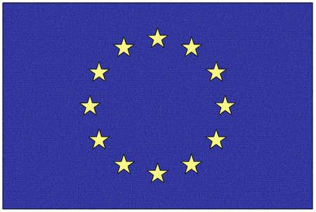 Crayon illustration of the flag - Europe Stock Illustration - 8380542