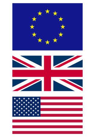 Illustration of the national flag - Europe UK USA Stock Illustration - 8380543