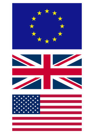 Illustration of the national flag - Europe UK USA illustration