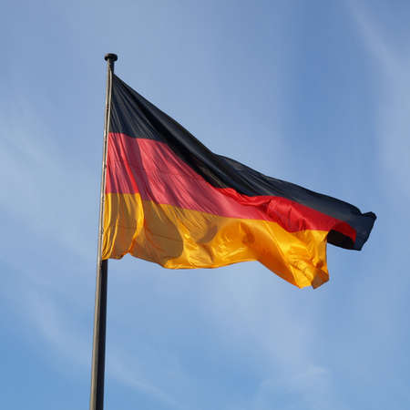 The national German flag of Germany (DE) Stock Photo - 8457279