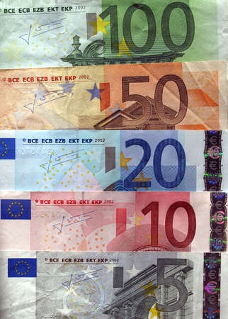 geld: Euro banknote (currency of the European Union) Stock Photo