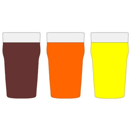 stout: Pintas de cerveza incluyendo stout amarga y lager
