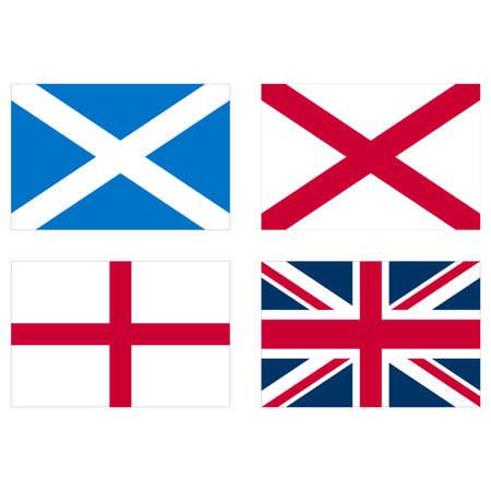 scottish flag: Bandiere di Inghilterra Scozia, Galles e Regno Unito union jack