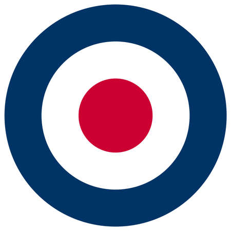 royal air force: United Kingdom Royal Air Force roundel flag