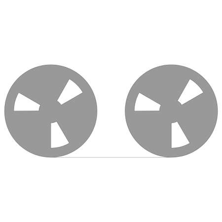 Tape reel symbol for computer data storage or audio recording Stock Photo - 8583247