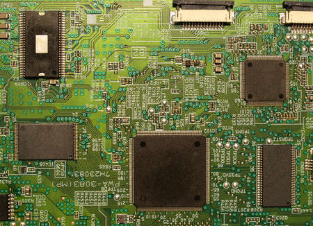 Detail of an electronic printed circuit board photo