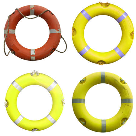Collage of  life buoy for safety at sea Stock Photo - 8772461