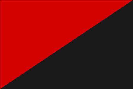 anarchist: Red and black flag of Anarchist and Anarcho Syndacalism Stock Photo