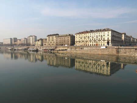 po: Fiume Po (River Po) in Turin, Italy