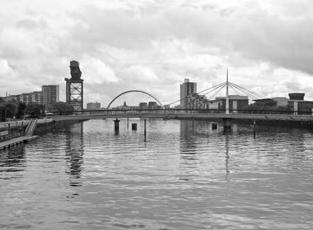 The River Clyde in Glasgow city, Scotland photo