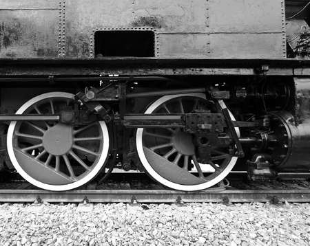 Detail of ancient steam train locomotive vehicle Stock Photo - 9346669