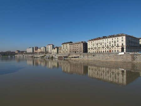 po: Fiume Po (River Po) in Turin Italy